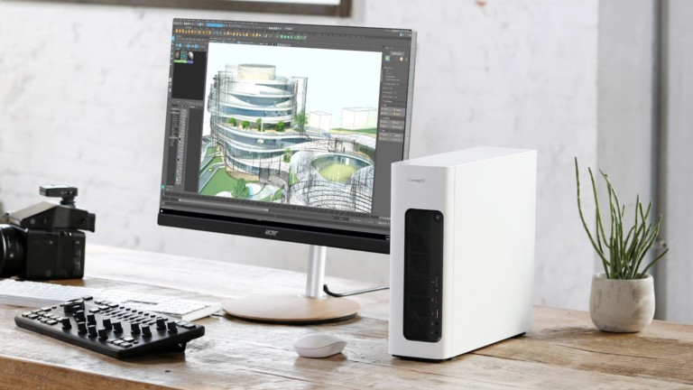Acer ConceptD 100 Professional Creator Computer is compact while offering 2D and 3D design opportunity