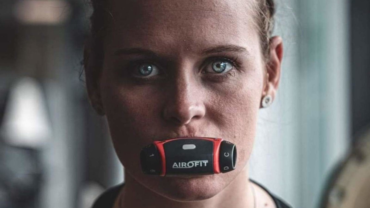 Airofit Breathing Trainer Bluetooth Mouthpiece makes exercising feel easier