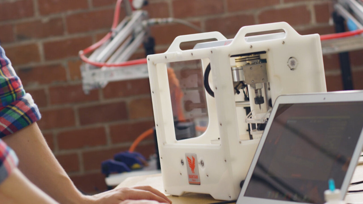 Bantam Tools Desktop CNC Milling Machine Prototyping System brings aluminum creation in-house