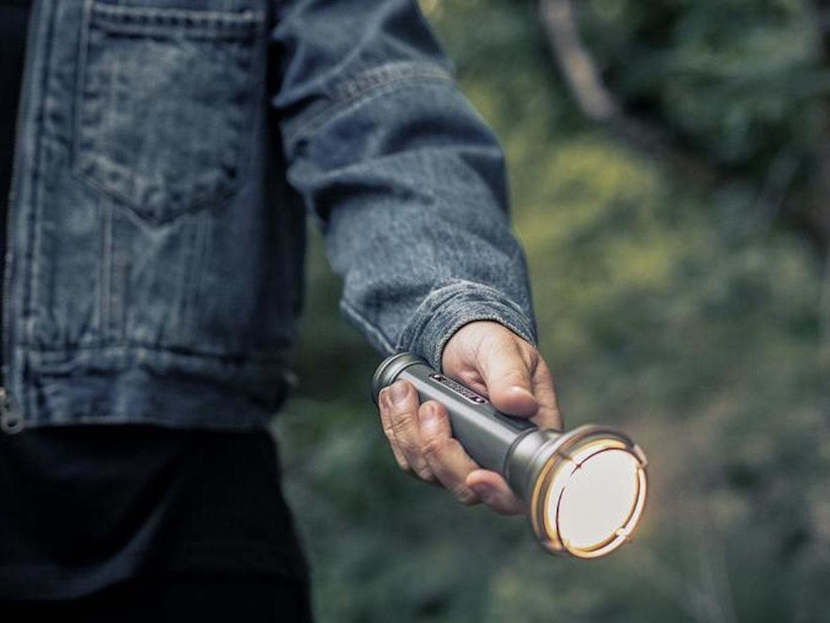 Barebones Living Vintage Flashlight Portable LED Light is a convenient size for everyday carry
