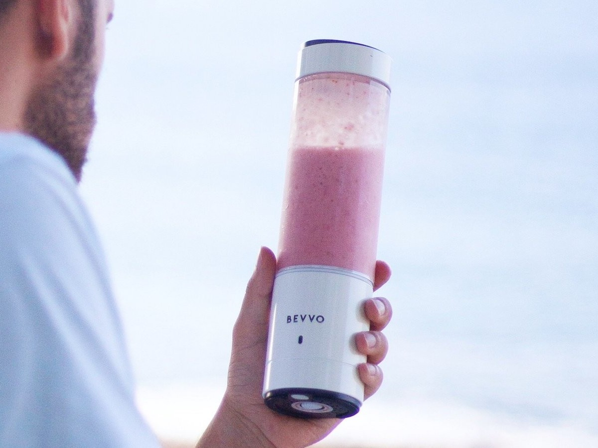 BEVVO Portable Blender Compact Smoothie Maker creates a healthy drink on the go