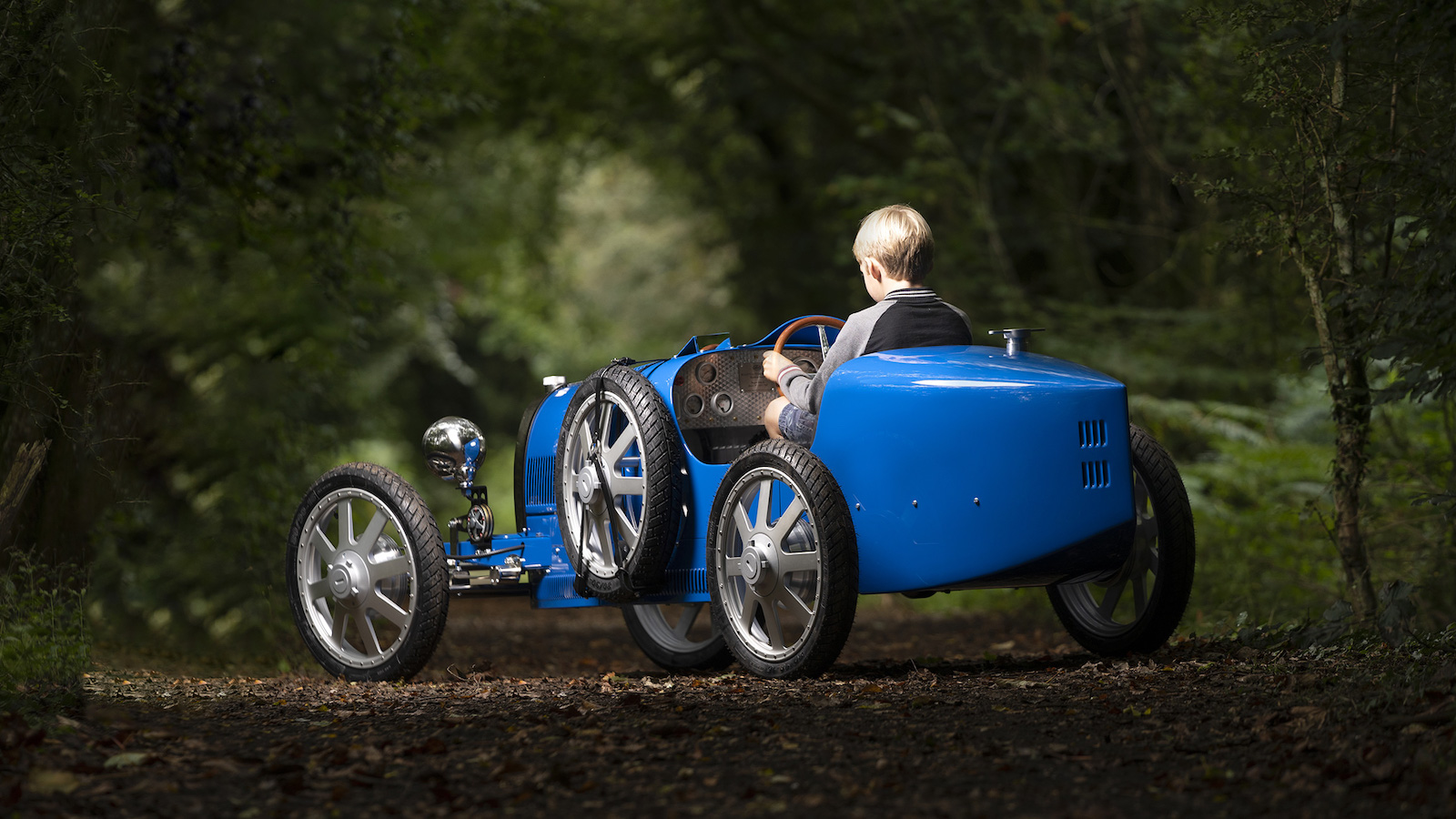 Bugatti Baby II mini car is designed for children and young adults
