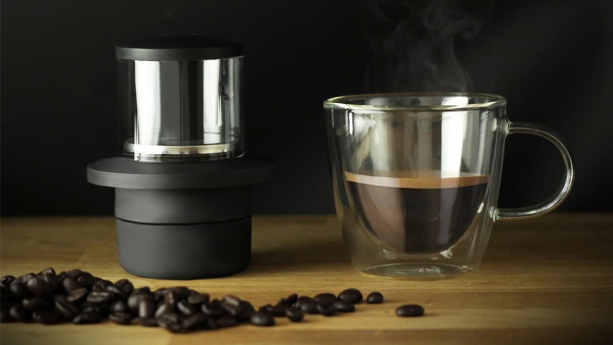 This pocket espresso machine lets you enjoy good coffee anywhere