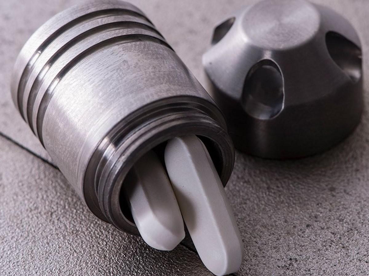 Dango Products Titanium Capsule EDC Holder provides a convenient place for accessories