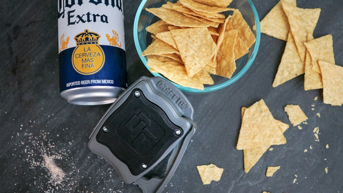 Draft Top Beer Can Opener is fully patented, is made in the USA, and safely turns your aluminum can into a cup