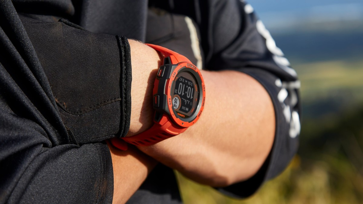 Garmin Instinct Solar GPS Smartwatch uses the sun to power its battery