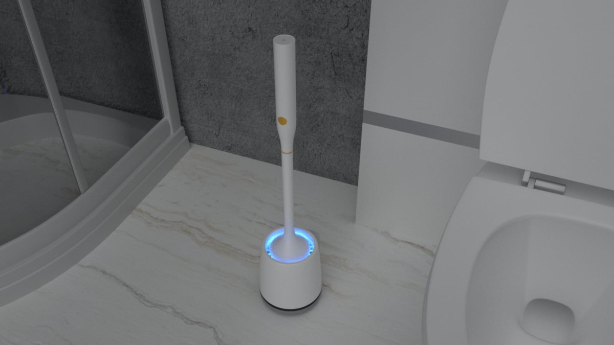 Good Papa Smart Toilet Brush keeps bacteria away from your porcelain throne
