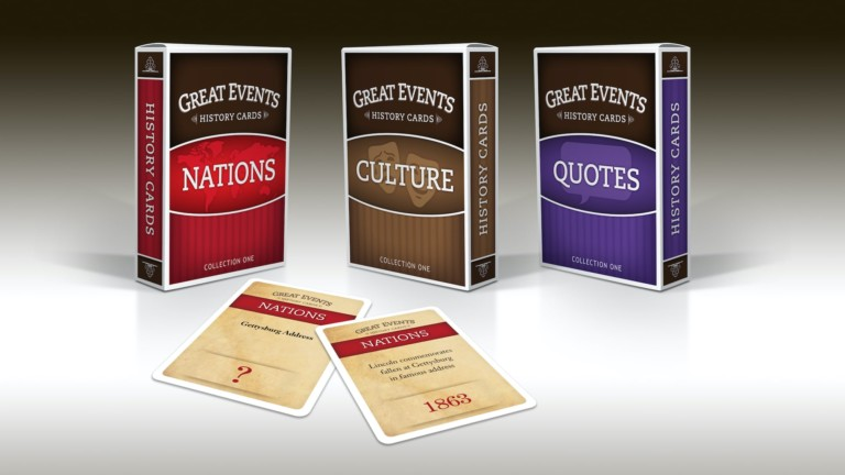 Great Events Historical Card Games bring history to life