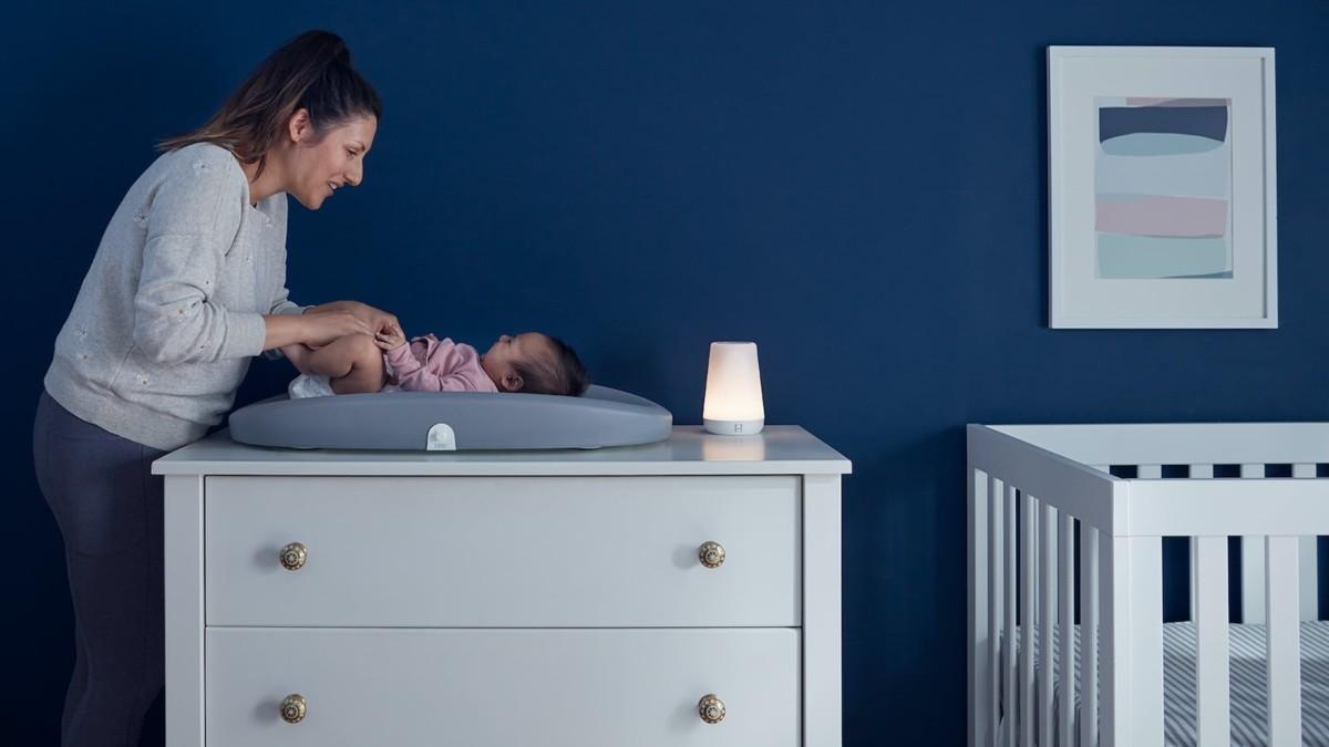 Hatch Rest+ Wi-Fi Night-Light helps children fall asleep