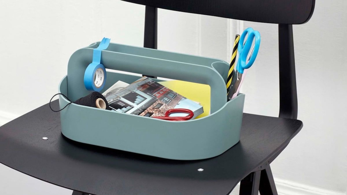 HAY Tool Box Carry Organizer provides storage for your accessories