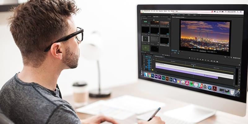 Video editing in progress