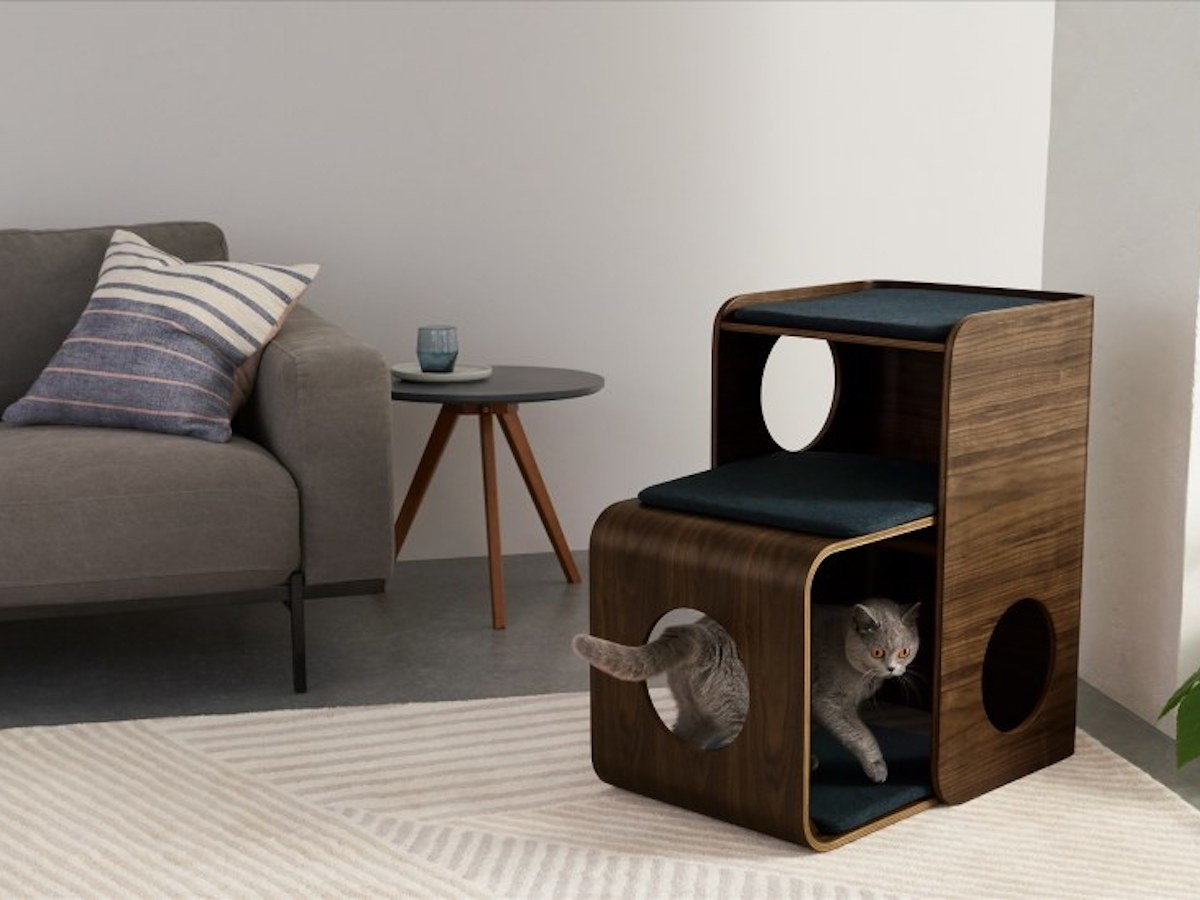 MADE Kyali Cat Climber provides a safe and cozy place for pets