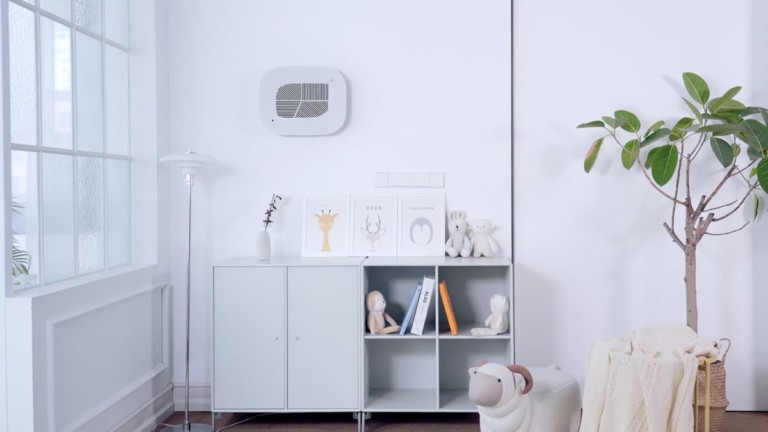 This modern air purifier amps up your home decor