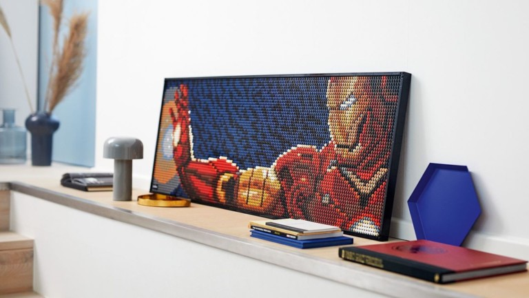 LEGO ART Marvel Studios Iron Man 31199 Wall Art comes with a soundtrack while you build