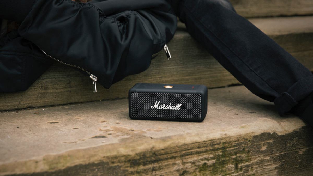 Marshall Emberton Lightweight Speaker offers up to 20 hours of playtime