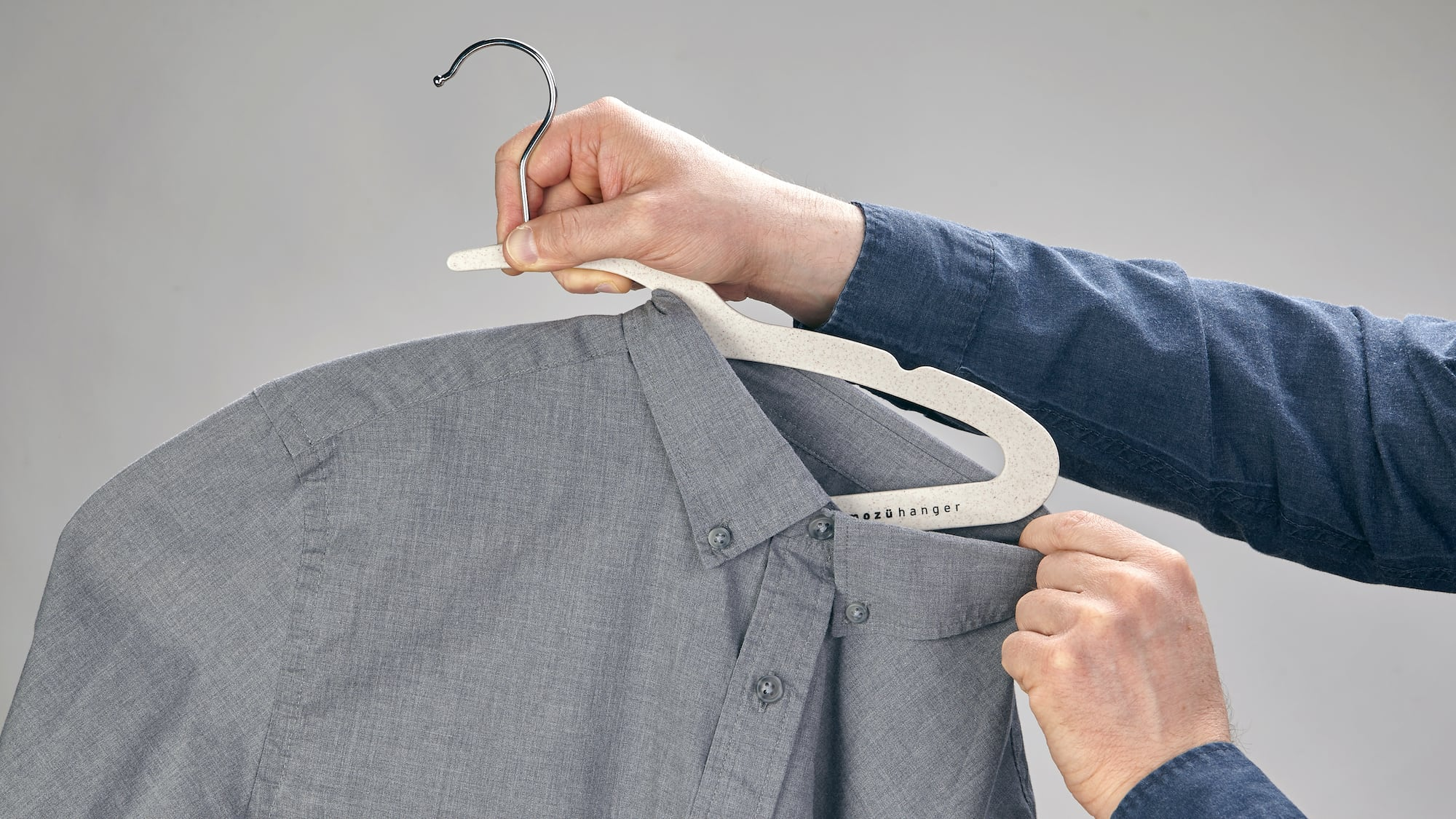 Mozu Hanger Earth-Friendly Hangers have an innovative notch that doesn't stretch collars