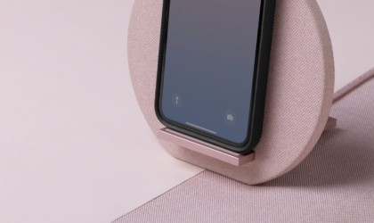 Native Union Dock Wireless Charger Leather Stand