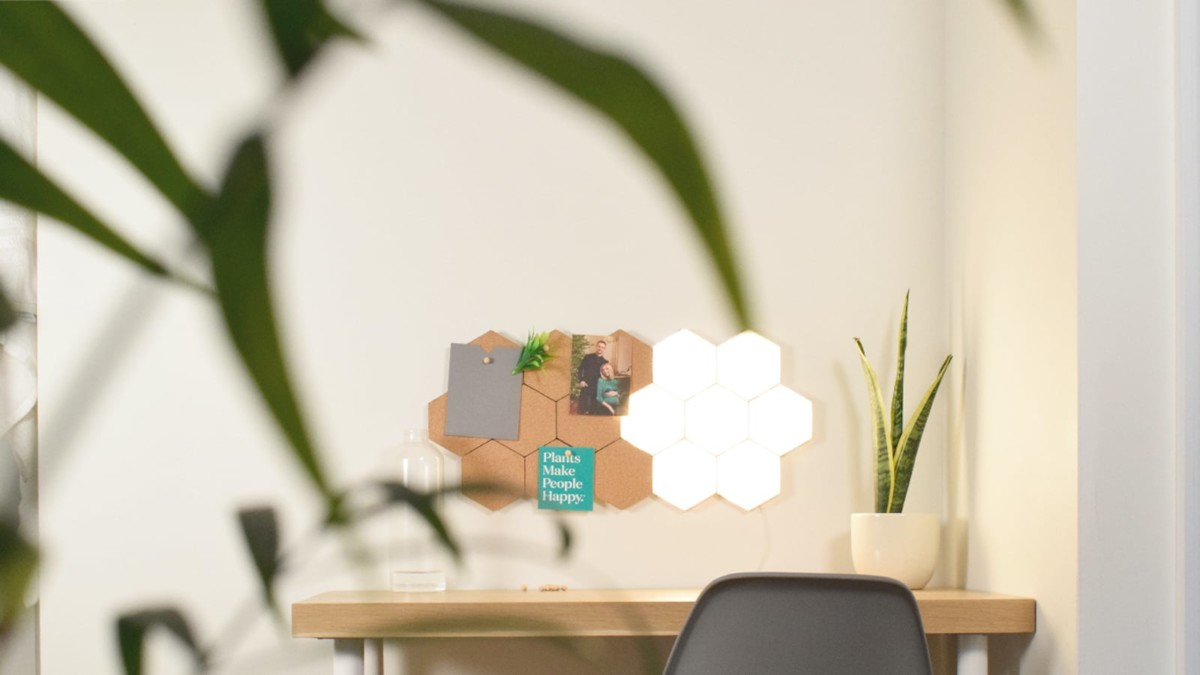 POLYGON Light Magnetic Lighting Tiles are a modular, touch-sensitive way to brighten up your space
