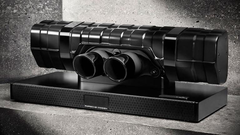 Porsche Design 911 Soundbar Black Edition Breathtaking Speaker has shiny black elements