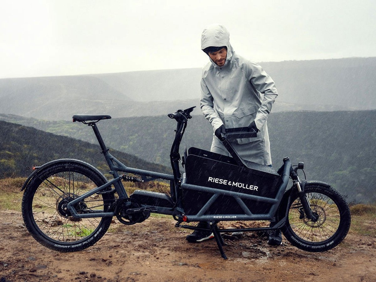 Propel Riese & Muller Load 60 Collection Electric Cargo Bikes provide excellent handling on all surfaces