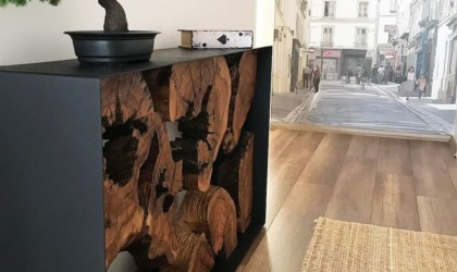 Roots Olive Wood Console Table
