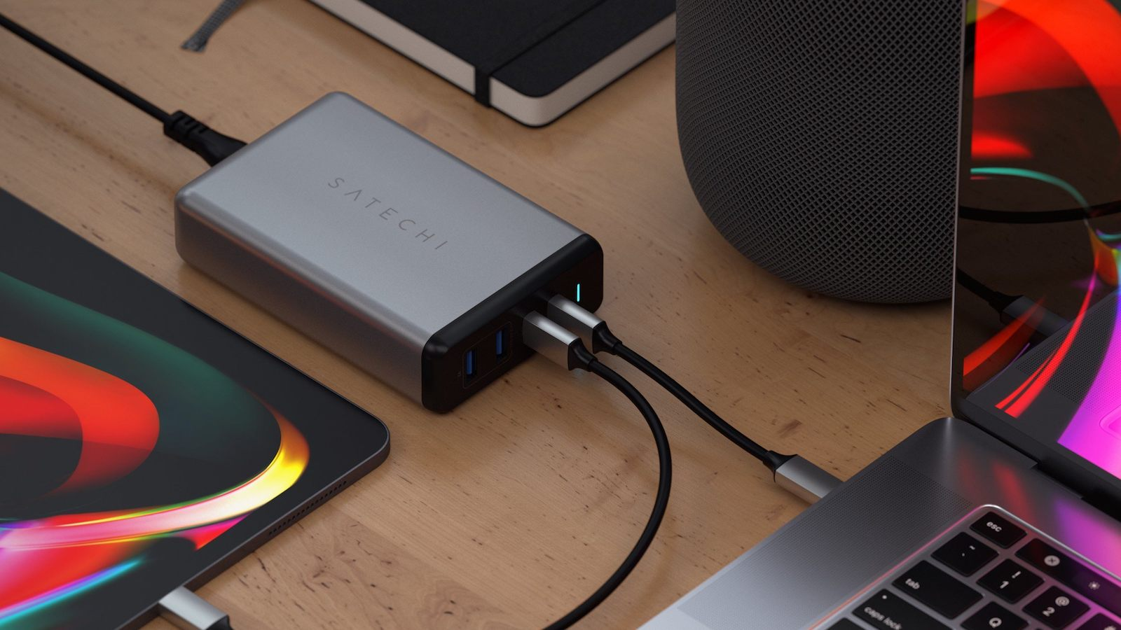 Satechi 108W Pro USB-C PD Wireless Desktop Charger