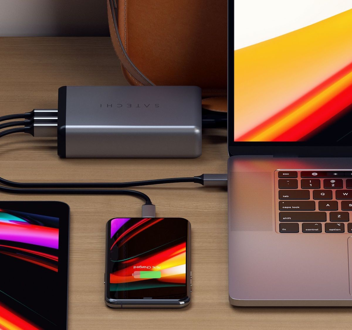 Satechi 108W Pro USB-C PD wireless desktop charger suits many devices