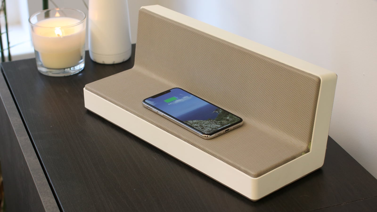 Solgaard HomeBase Solar Boombox Ecosystem has a built-in wireless charger and amplifier