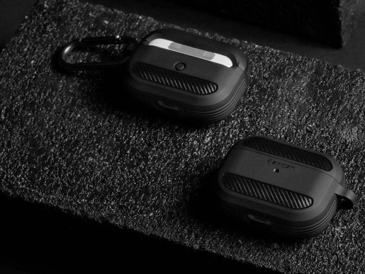 Spigen AirPods Pro Rugged Armor Earbud Storage Case offers everyday coverage