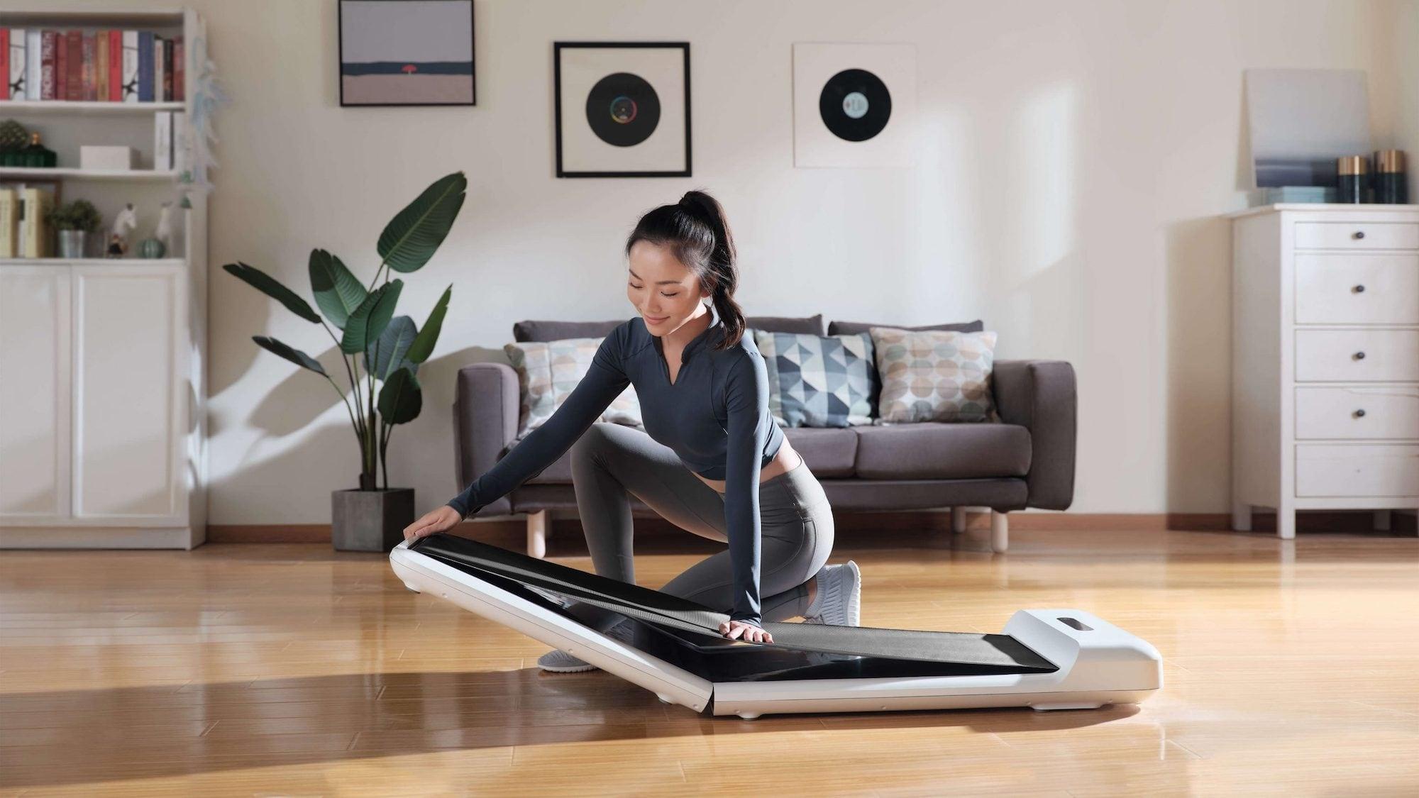 WalkingPad S1 Foldable Workout Device has a 180º hinge to save space