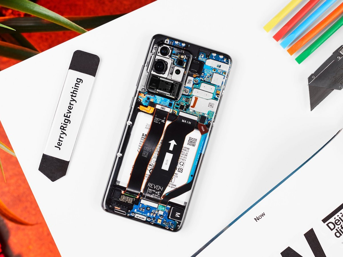 This phone skin creates the illusion of a transparent back