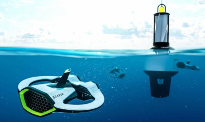 Autonomous Underwater Vehicle Swimming Drone by Draper & Sprout Studios