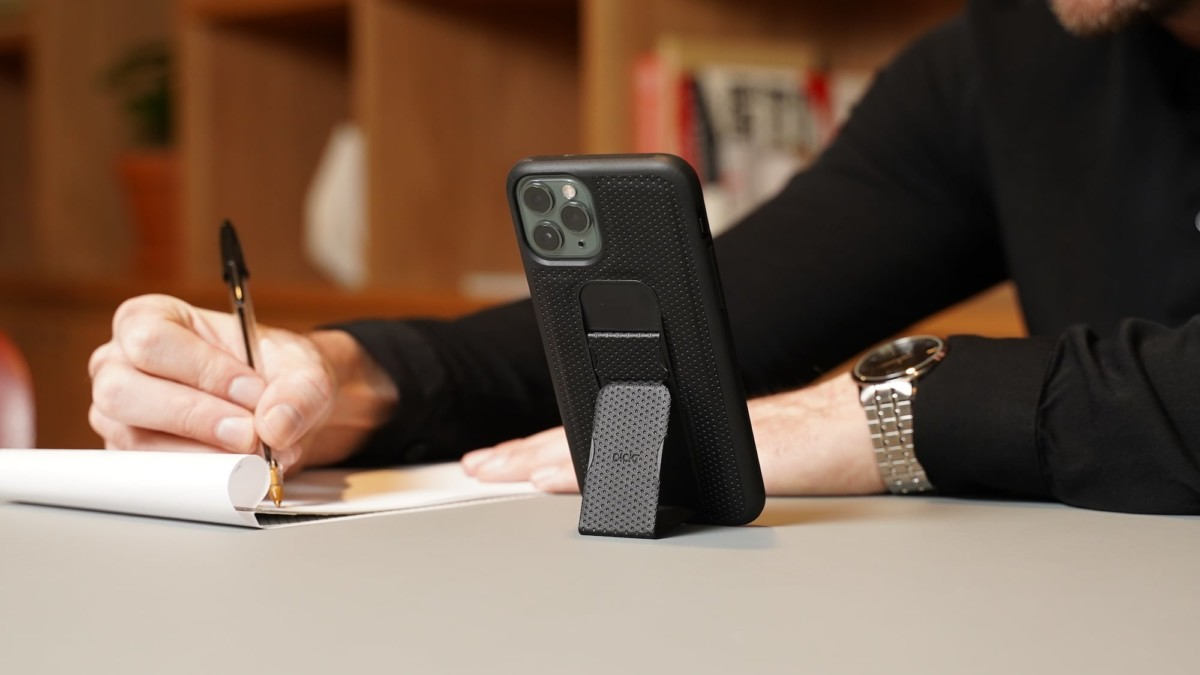 CLCKR Stand Case smartphone holder offers multiple functions