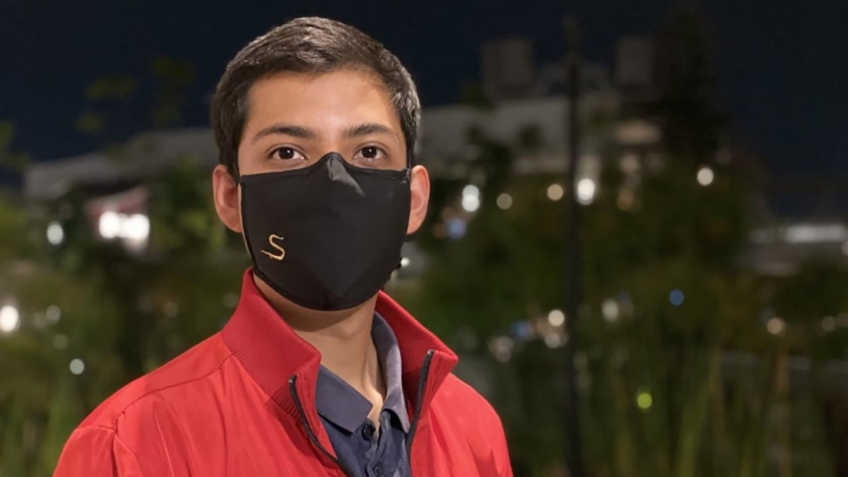 This copper face mask is made of biodegradable materials