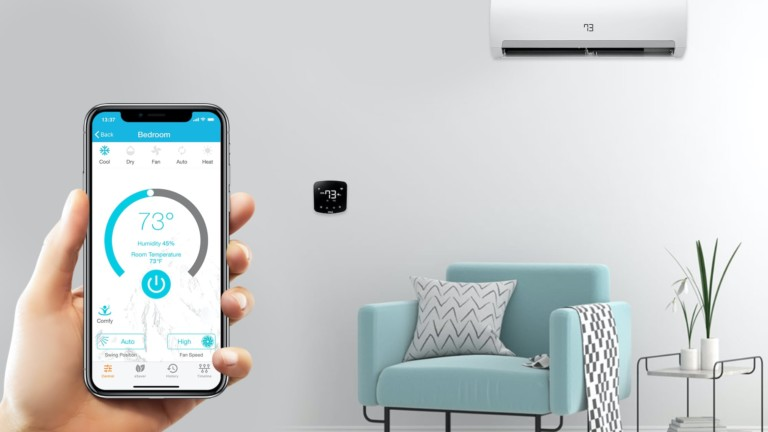 Cielo Breez Plus smart air conditioner controller operates like a thermostat