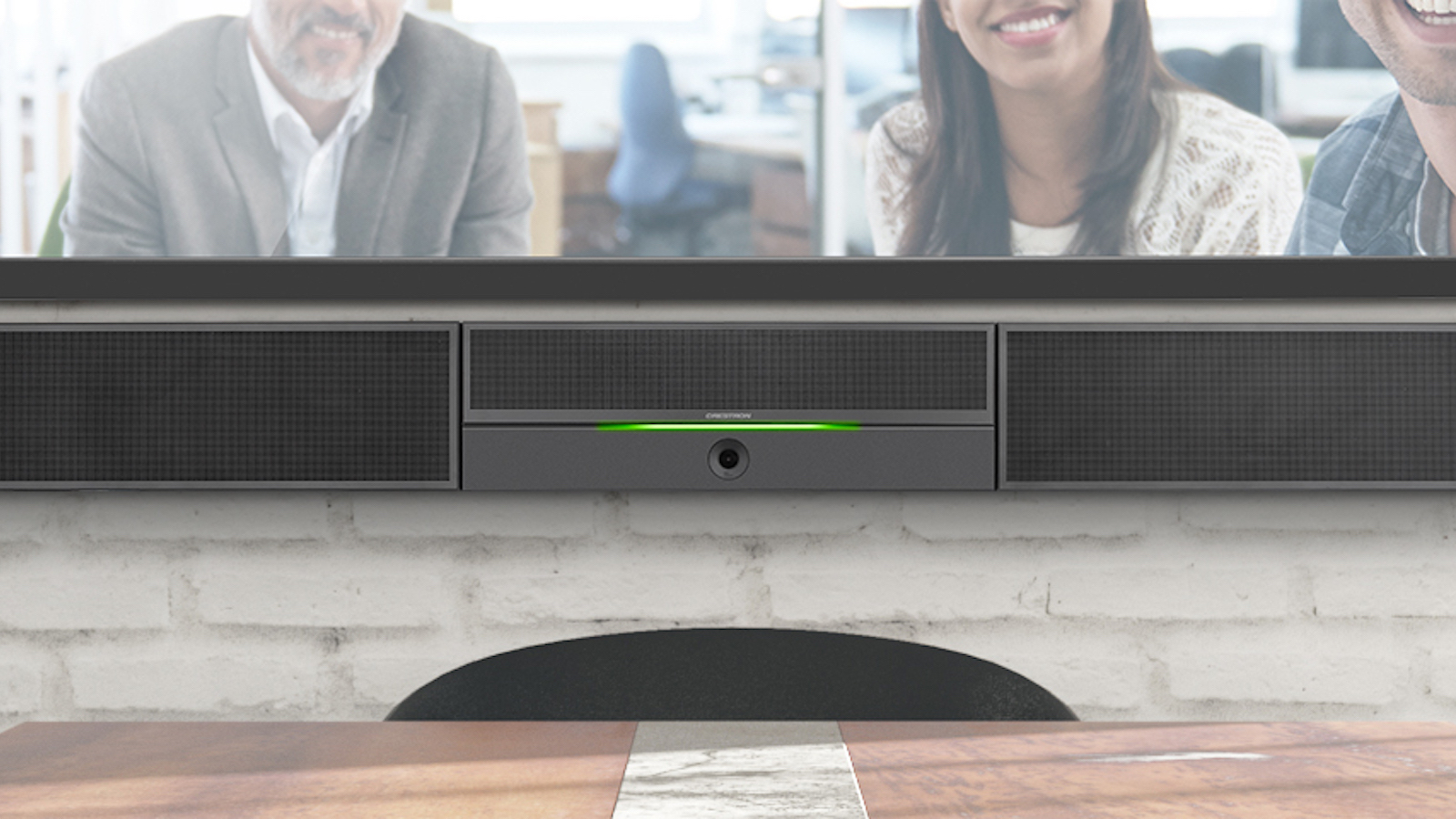 Crestron UC Smart Soundbar stereo speaker series is suitable for professional and work use