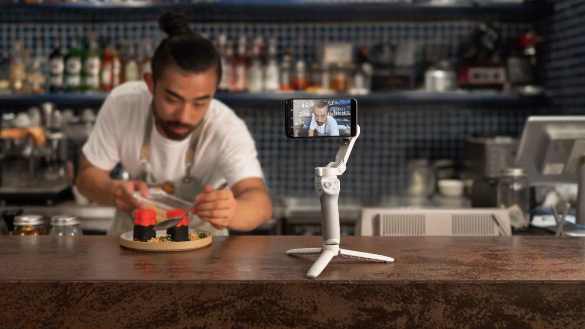 DJI Osmo Mobile 4 foldable phone gimbal has a convenient magnetic design