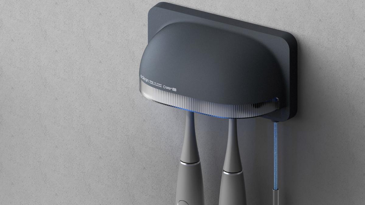 Oclean Bloom Slim Toothbrush Sanitizing Hub cleans in 30 seconds