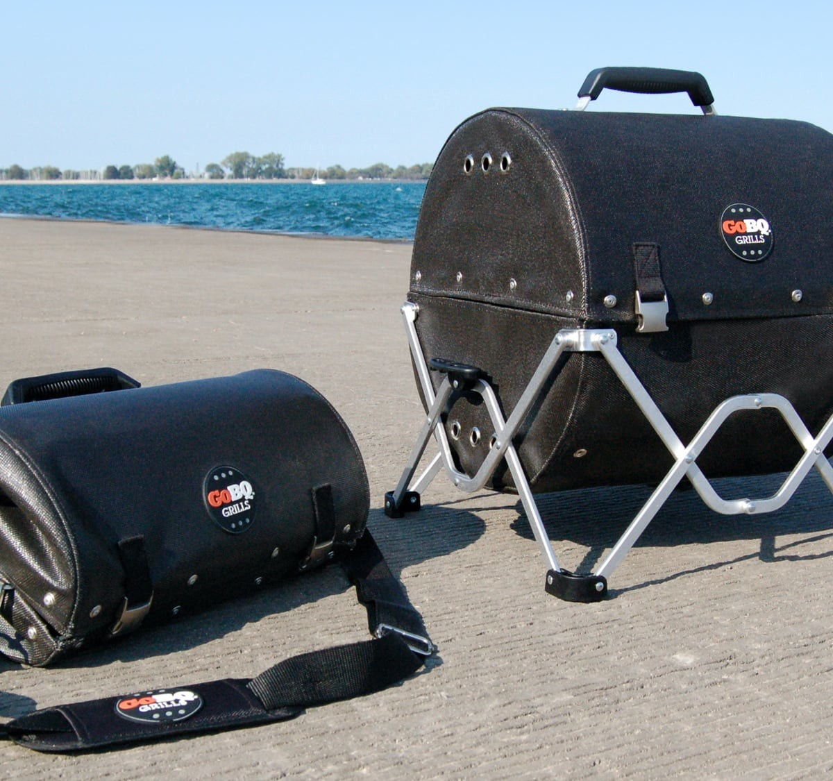 This GoBQ portable charcoal grill fits in your backpack