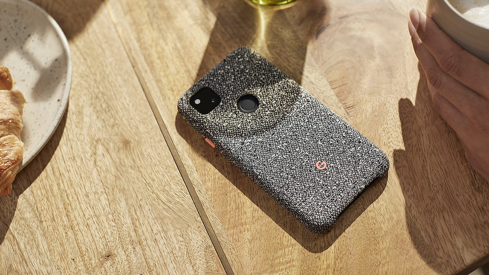 Google Pixel 4a Case Knit Cover is made mostly from recycled plastic