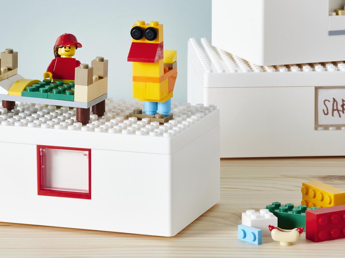 IKEA & LEGO BYGGLEK personalized storage boxes creates organization