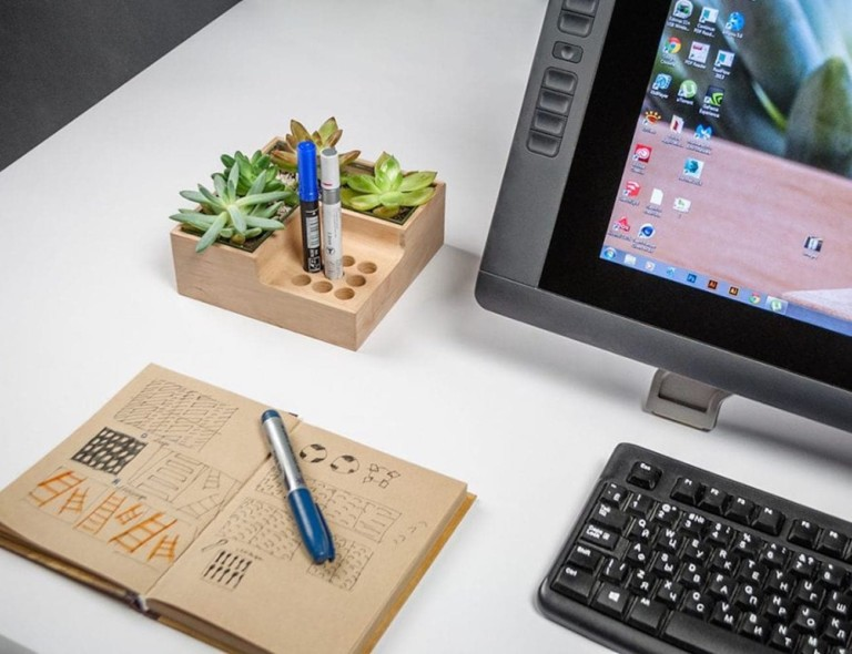 Julia Kononenko Eco Pot Modular Desktop Organizer