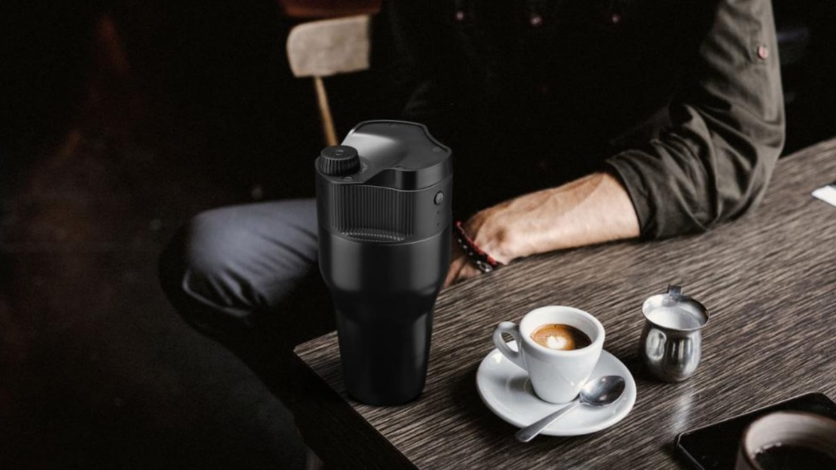 Kopipresso Brewer Mug coffee brewing system is a great WFH coffee solution