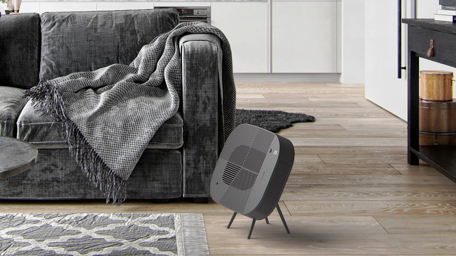 Löv stylish air purifier provides a new way to style your space