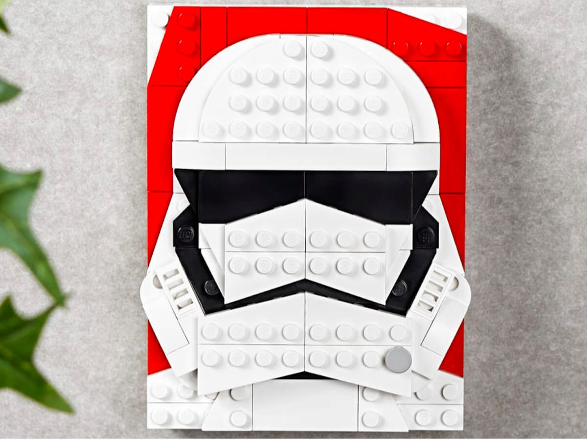 LEGO Brick Sketches Character Portraits turn into a wall display