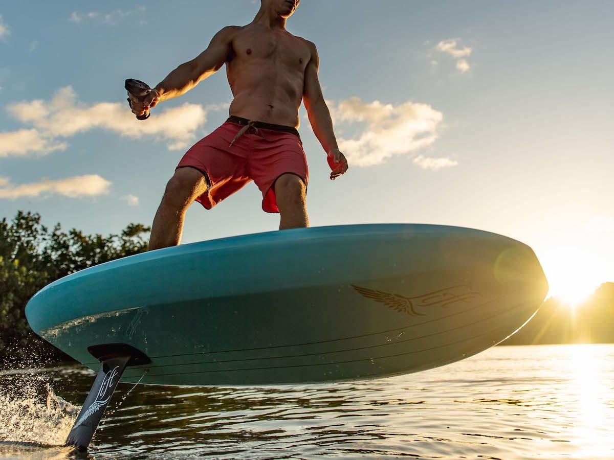 Lift Foils eFoil electric surfboard series operates via remote
