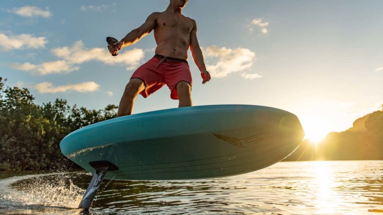 Lift Foils eFoil electric surfboard series operates via remote