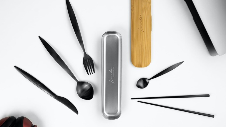 Linden Portable Cutlery Set replaces your single-use plastics