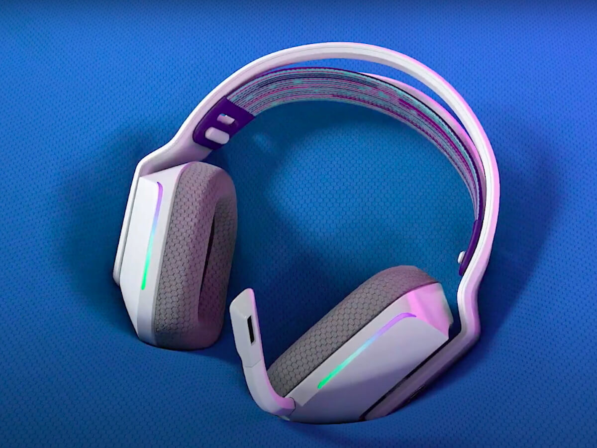 Logitech G733 lightspeed gaming headphones conform to your head
