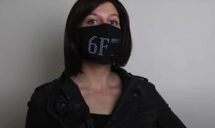 Lumen Couture LED Matrix Light Up Face Mask
